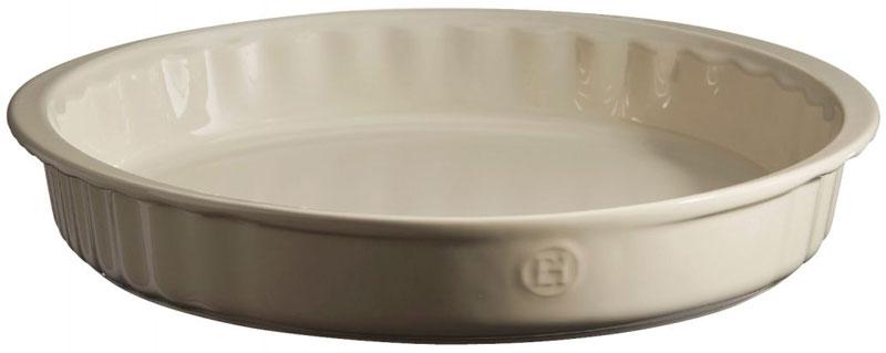 Форма для выпечки Emile Henry, круглая, цвет: кремовый, диаметр 26 см emile henry форма для тарта круглая 26 см гранат 346080 emile henry