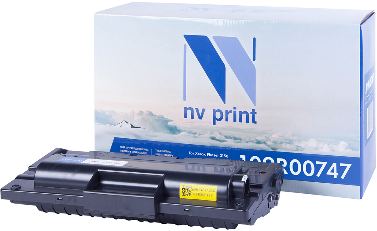 Картридж NV Print 109R00747, черный, для лазерного принтера картридж sakura 109r00747