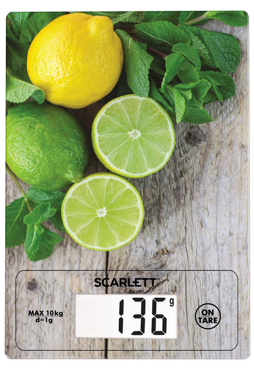 Кухонные весы Scarlett SC-KS57P21, Lime Mint весы кухонные scarlett sc ks57b10 белый