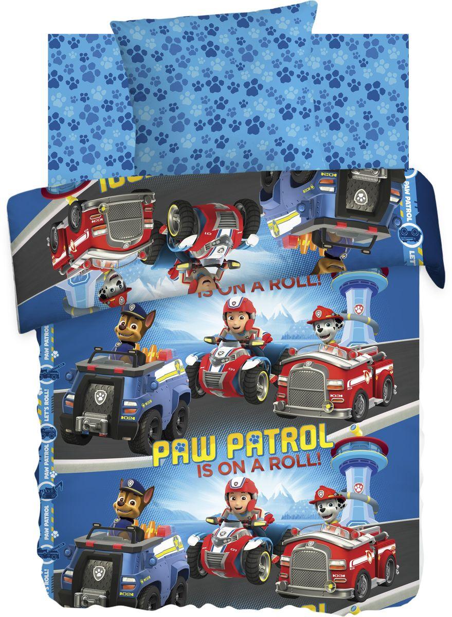 Комплект детского постельного белья Щенячий патруль В пути, 1,5-спальный, наволочки 70х70 портфолио для детского сада щенячий патруль