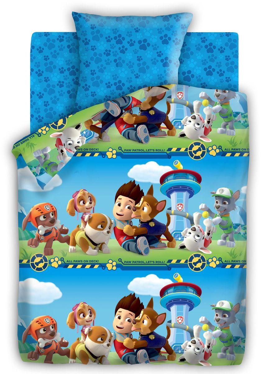 Комплект детского постельного белья Щенячий патруль Патруль, 1,5-спальный, наволочки 70х70 портфолио для детского сада щенячий патруль