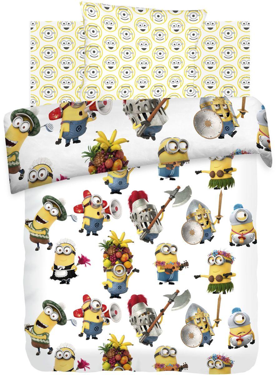цена Комплект детского постельного белья Миньоны