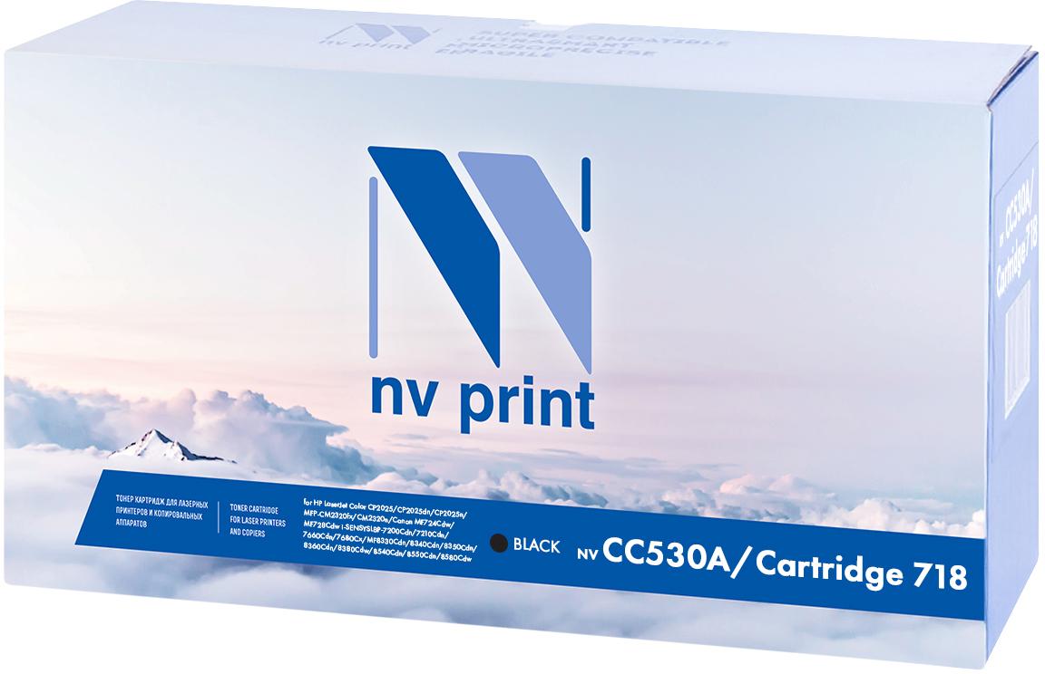 Картридж NV Print CC530A/Canon718Bk, черный, для лазерного принтера