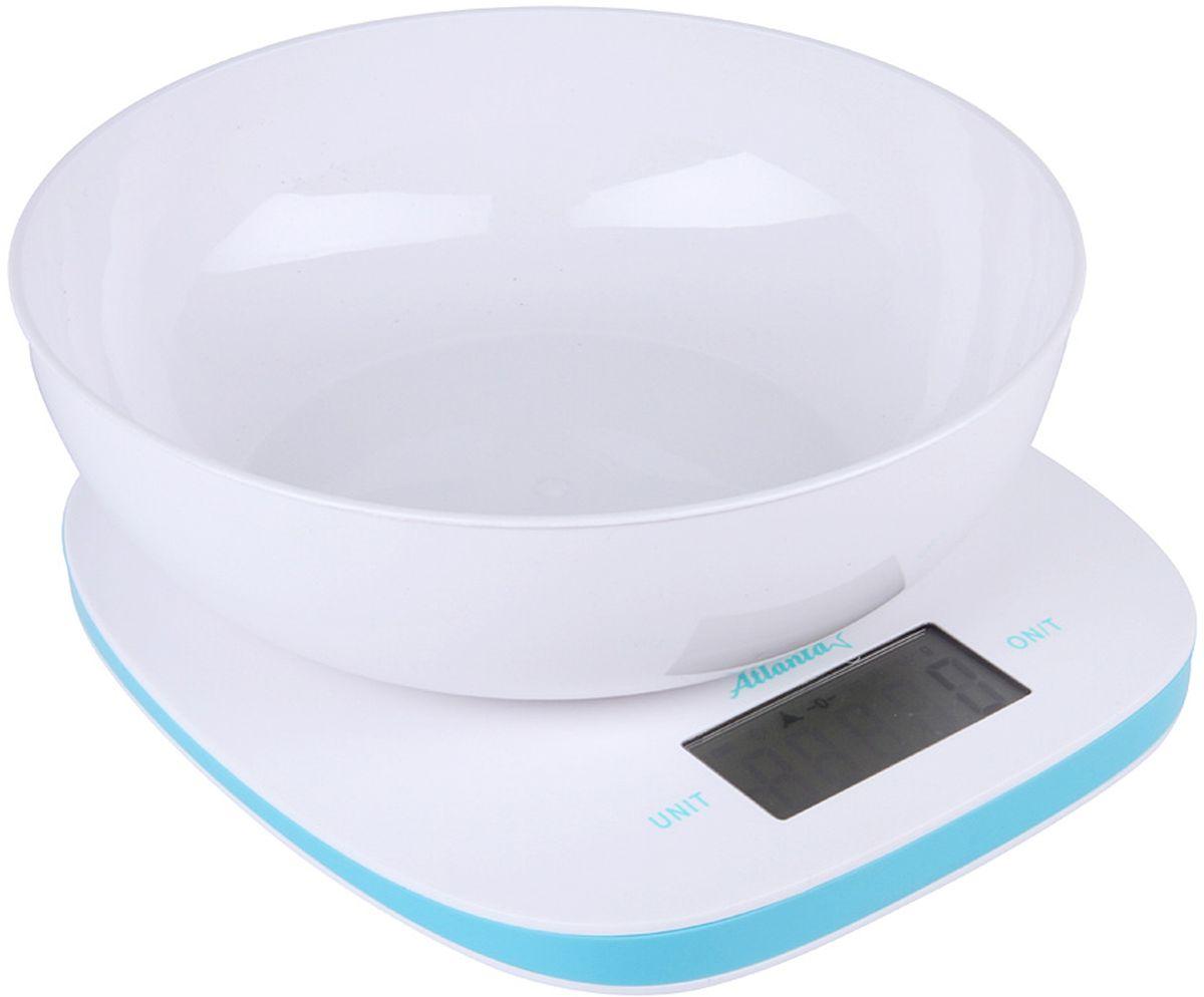 Atlanta ATH-6210, White Blue весы кухонные