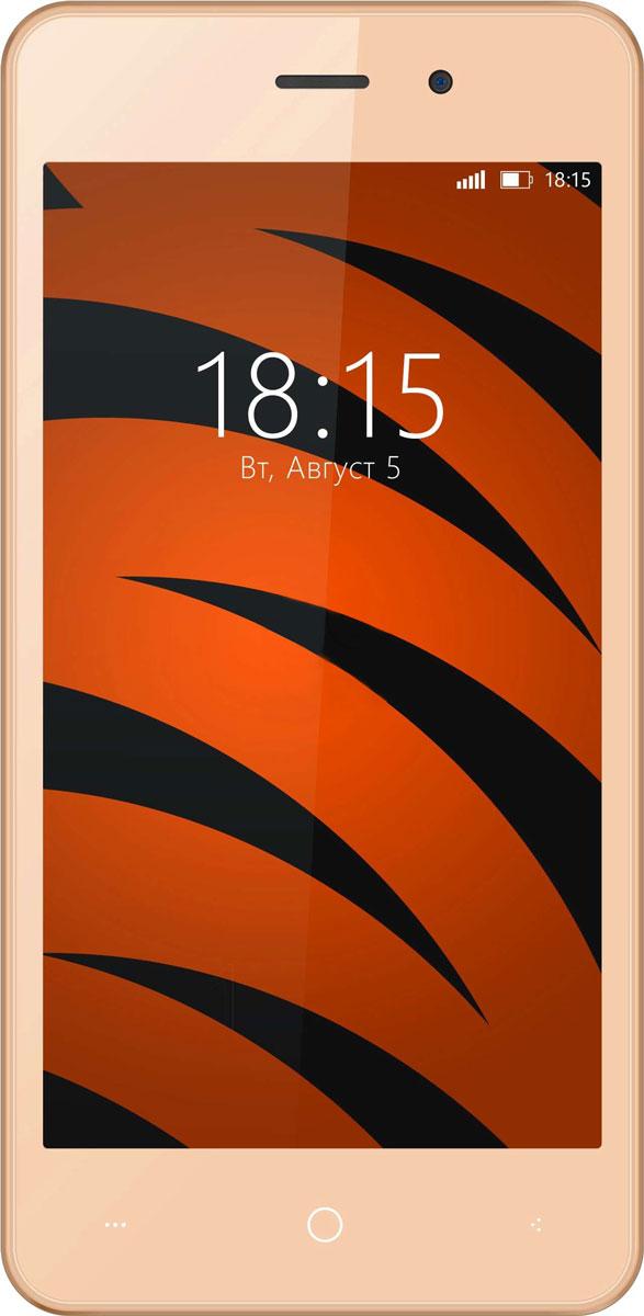 Смартфон BQ Mobile 1024/, золотой шампань. Уцененный товар цена и фото