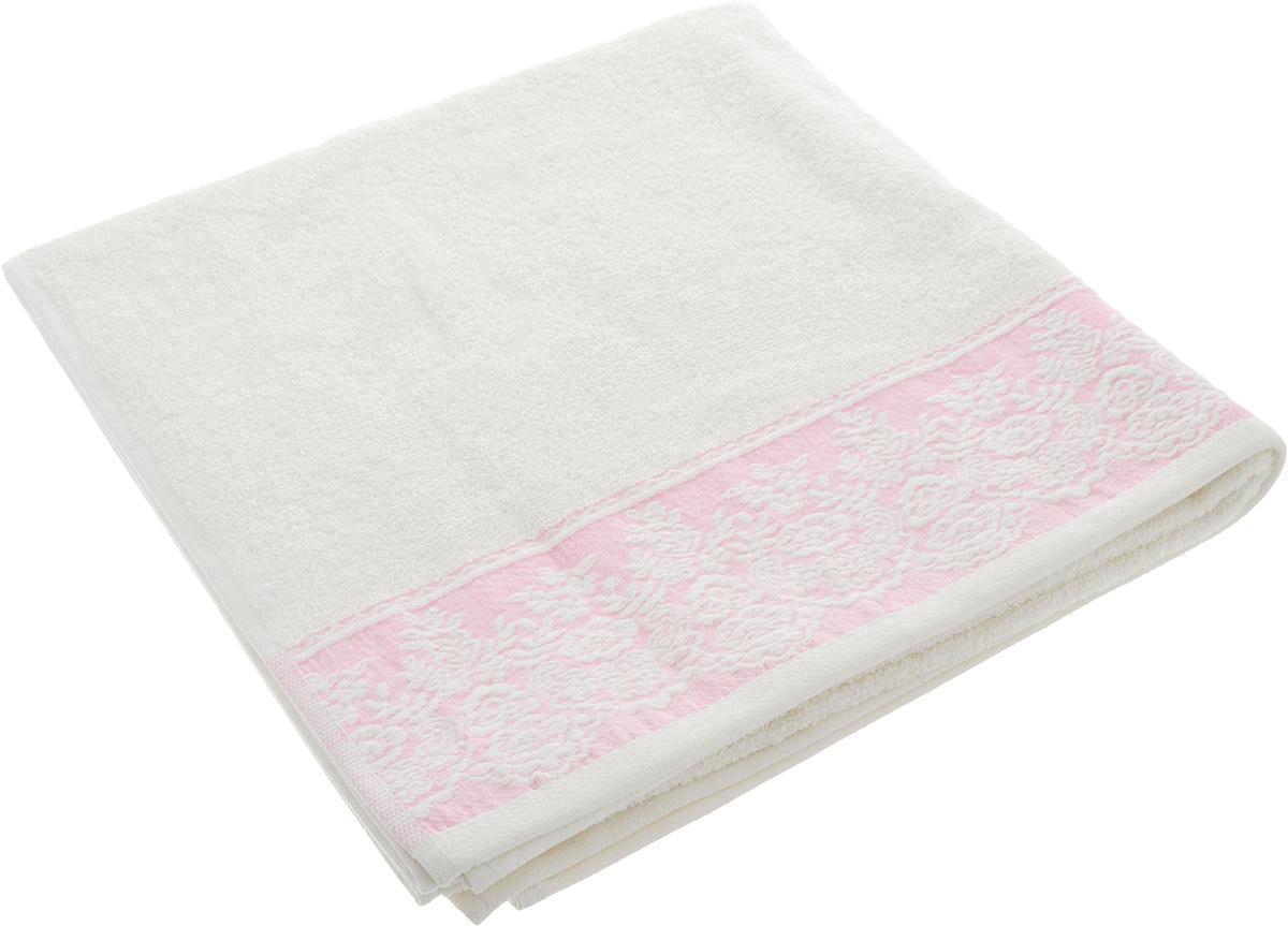 Полотенце Brielle Garden, цвет: кремовый, розовый, 70 х 140 см полотенце brielle garden pink 70x140 розовый 1204 85303