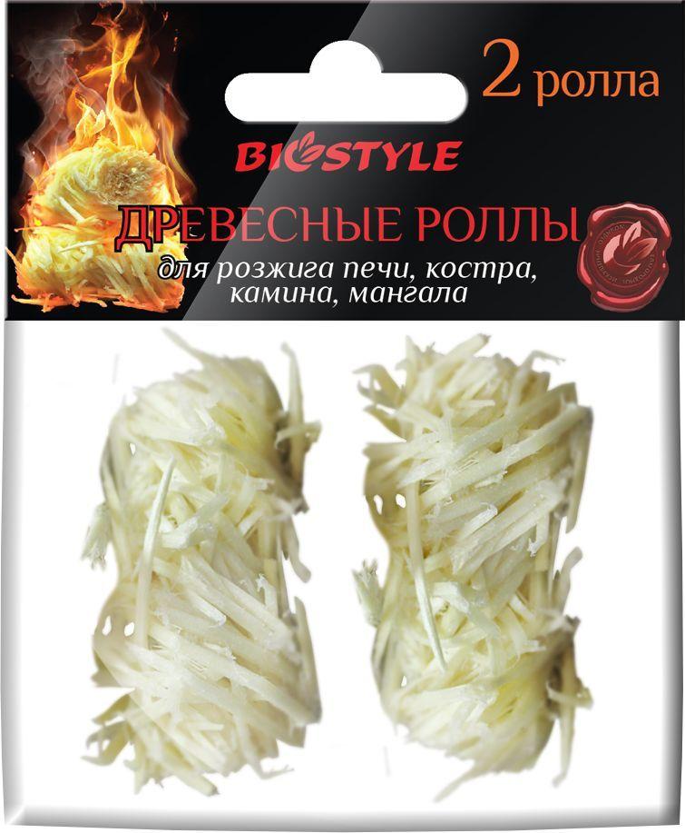 Роллы для розжига Biostyle, древесные, 2 шт роллы для розжига boyscout 61138
