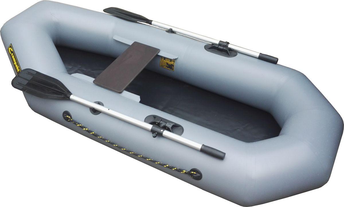 """Лодка надувная Leader """"Компакт-220"""", гребная, цвет: серый"""