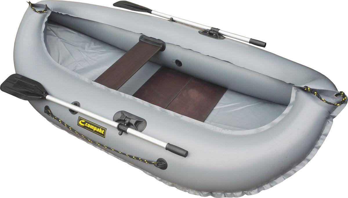 """Лодка надувная Leader """"Компакт-240"""", гребная, цвет: серый"""