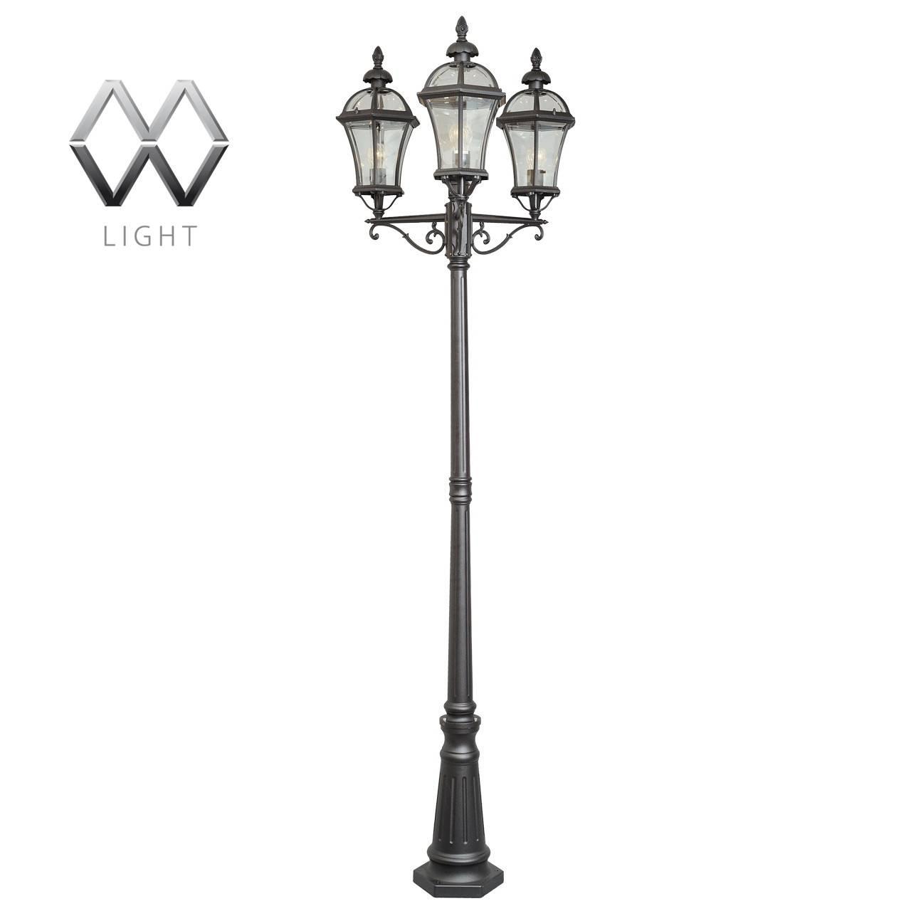 Садово-парковый светильник MW-Light Сандра 811040703 садово парковый светильник столб 100w e27 230v белый feron 4210 11033