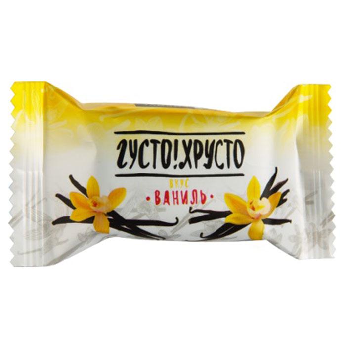 Густо Хрусто Ваниль конфеты глазированные вафельные, 500 г густо хрусто орех конфеты глазированные вафельные 500 г