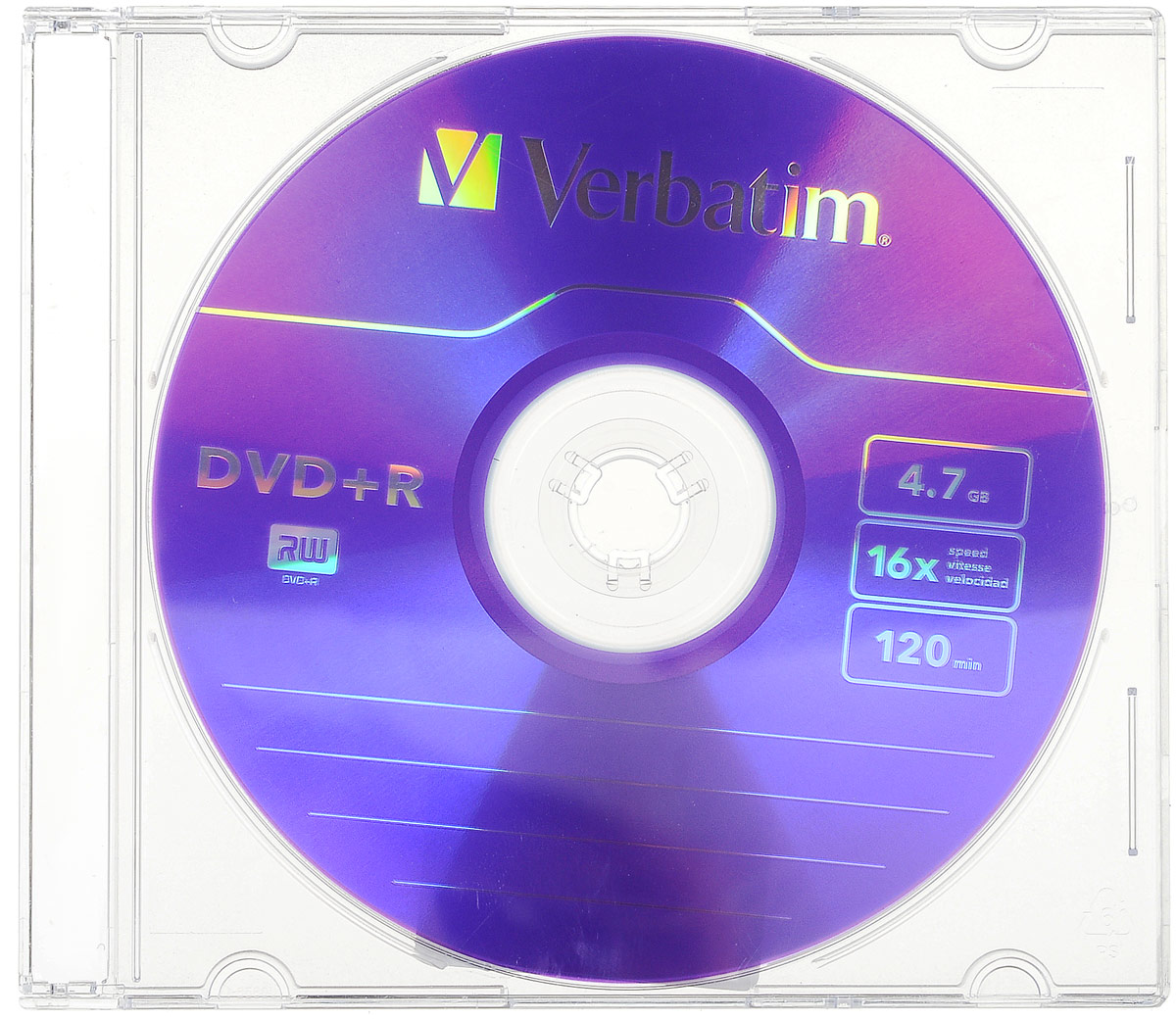 Verbatim DVD+R 4.7Gb 16x, 1 шт verbatim коврик verbatim pisa italy v4 p