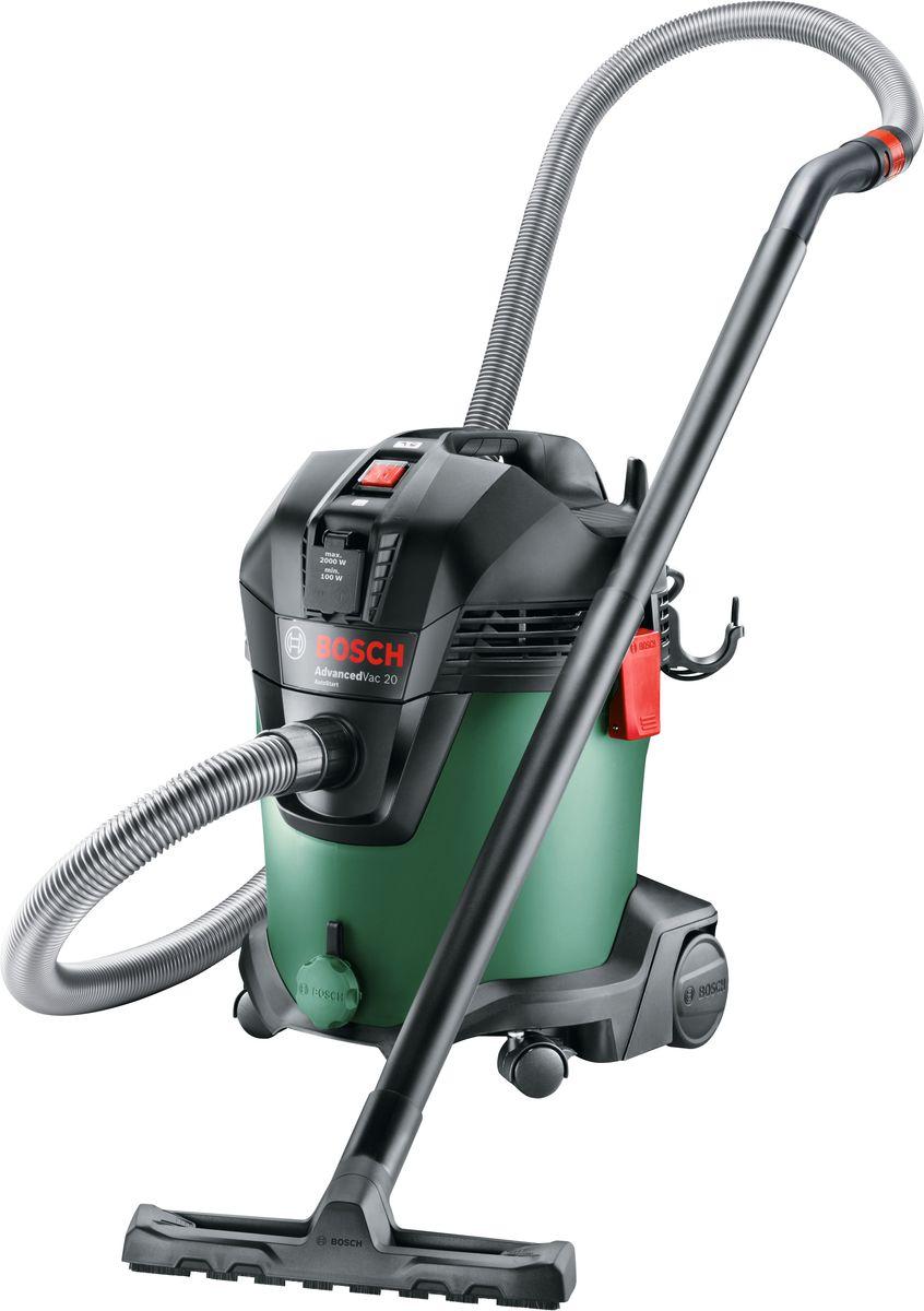 лучшая цена Универсальный пылесос Bosch AdvancedVac 20. 06033D1200