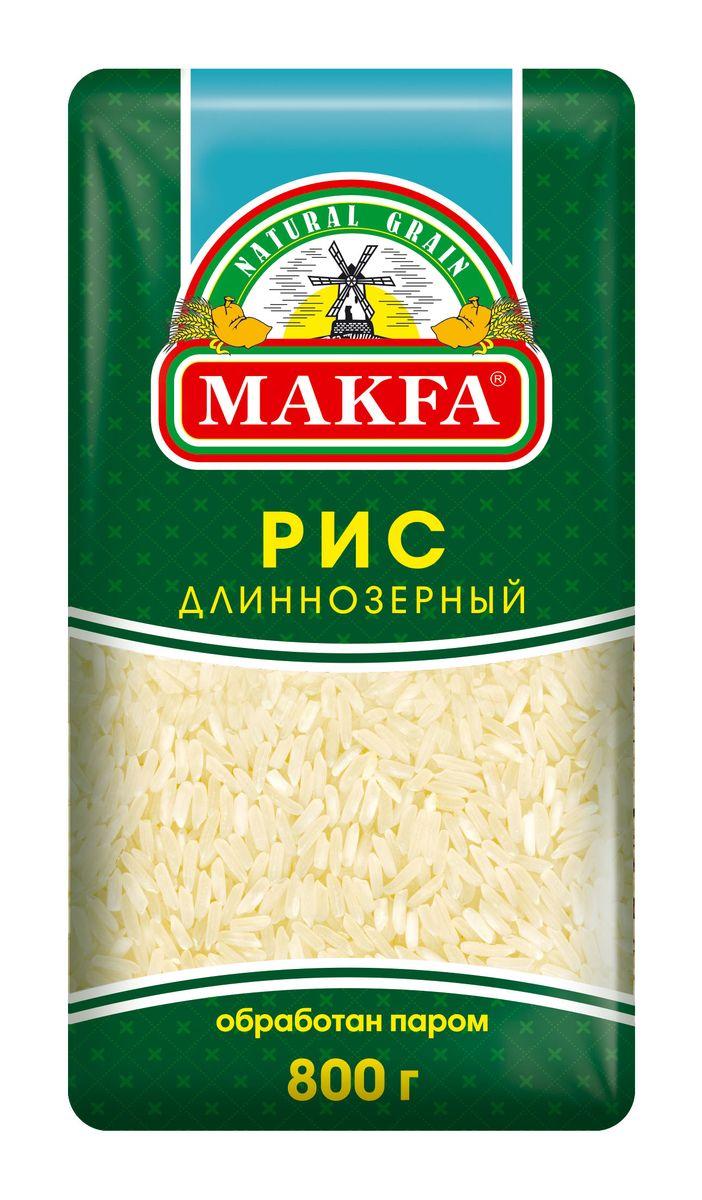 Makfa рис длиннозерный пропаренный, 800 г