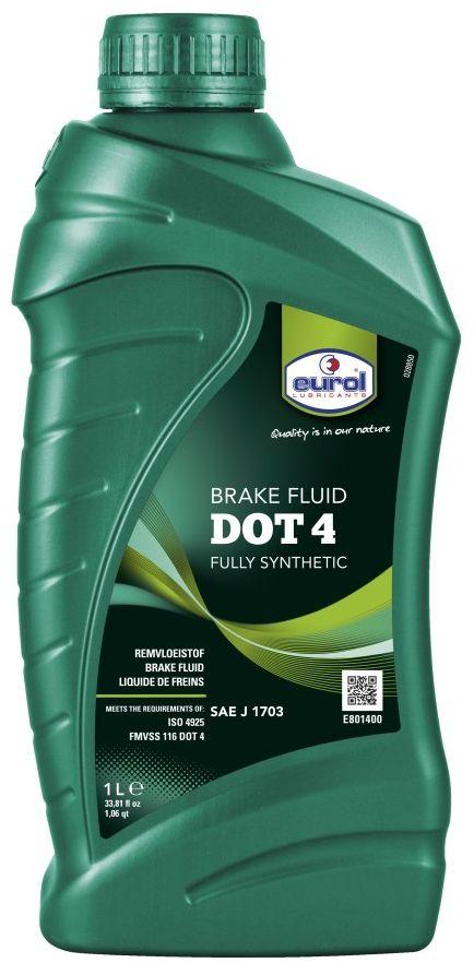 Жидкость тормозная EUROL Brakefluid DOT 4, 1 л