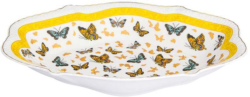 Блюдо Elan Gallery Бабочки, овальное, 570 мл блюдо для горячего elan gallery белый шиповник 42 х 22 5 см