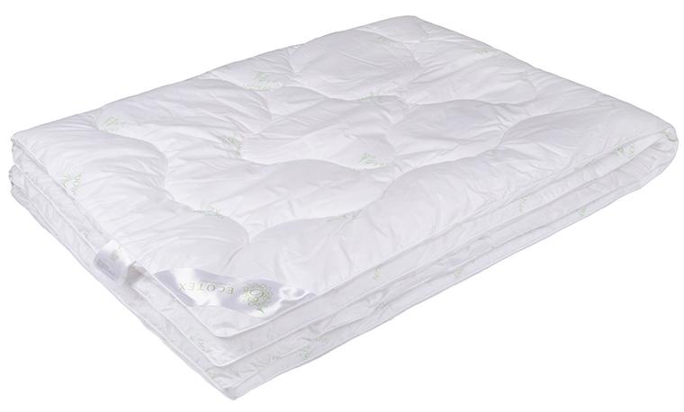 """Одеяло Ecotex Премиум """"Бамбук"""", облегченное, наполнитель: бамбуковое волокно, цвет: белый, 172 х 205 см"""