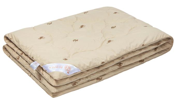Одеяло Ecotex Премиум Караван, наполнитель: верблюжья шерсть, 140 х 205 см одеяло евростандарт сова и жаворонок верблюжья шерсть сиж