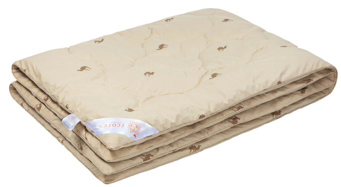 Одеяло Ecotex Премиум Караван, наполнитель: верблюжья шерсть, 172 х 205 см одеяло евростандарт сова и жаворонок верблюжья шерсть сиж