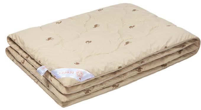 Одеяло Ecotex Премиум Караван, наполнитель: верблюжья шерсть, 200 х 220 см одеяло евростандарт сова и жаворонок верблюжья шерсть сиж