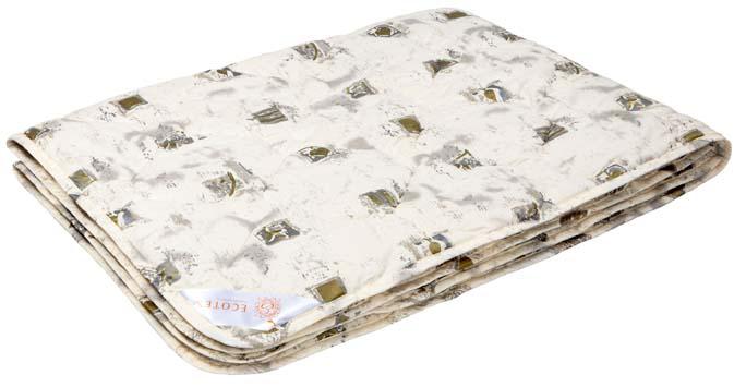 Одеяло Ecotex Премиум Золотое руно, наполнитель: овечья шерсть, 140 х 205 см плед daily by t золотое руно 130х170см шерсть 100% в ассортименте