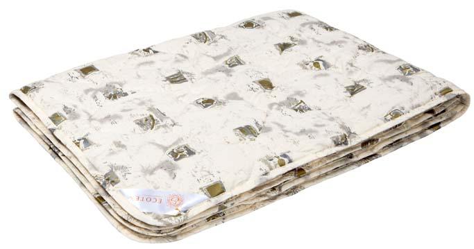 Одеяло Ecotex Премиум Золотое руно, наполнитель: овечья шерсть, цвет: светло-бежевый, 200 х 220 см одеяло relax wool легкое цвет светло бежевый 200 х 220 см