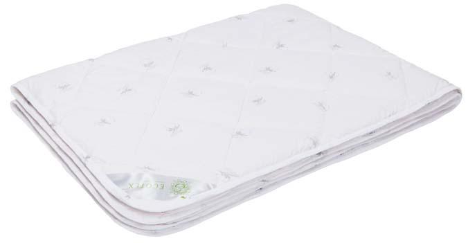 Одеяло Ecotex Премиум Коттон, наполнитель: хлопок, цвет: белый, 172 х 205 см одеяло relax wool всесезонное цвет светло бежевый 172 х 205 см