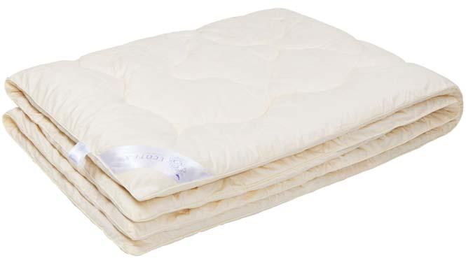 Одеяло Ecotex Роял Кашемир, наполнитель: шерсть, цвет: светло-бежевый, 200 х 220 см цена