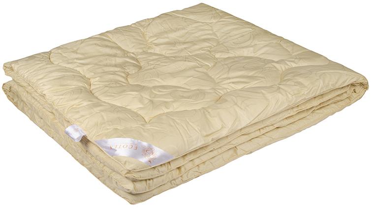 Одеяло Ecotex Роял Меринос, наполнитель: шерсть мериноса, цвет: светло-бежевый, 172 х 205 см одеяло relax wool всесезонное цвет светло бежевый 172 х 205 см