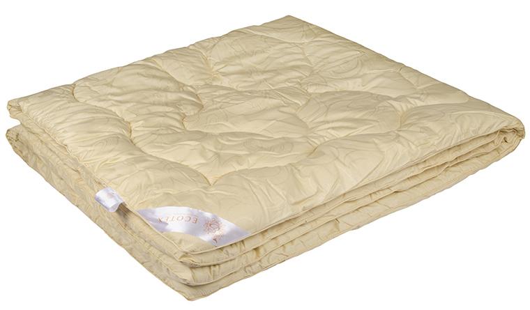 Одеяло Ecotex Роял Меринос, наполнитель: шерсть мериноса, цвет: светло-бежевый, 200 х 220 см одеяло relax wool легкое цвет светло бежевый 200 х 220 см