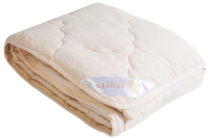 Одеяло Ecotex Премиум Золотое руно, облегченное, наполнитель: овечья шерсть, 172 х 205 см плед daily by t золотое руно 130х170см шерсть 100% в ассортименте
