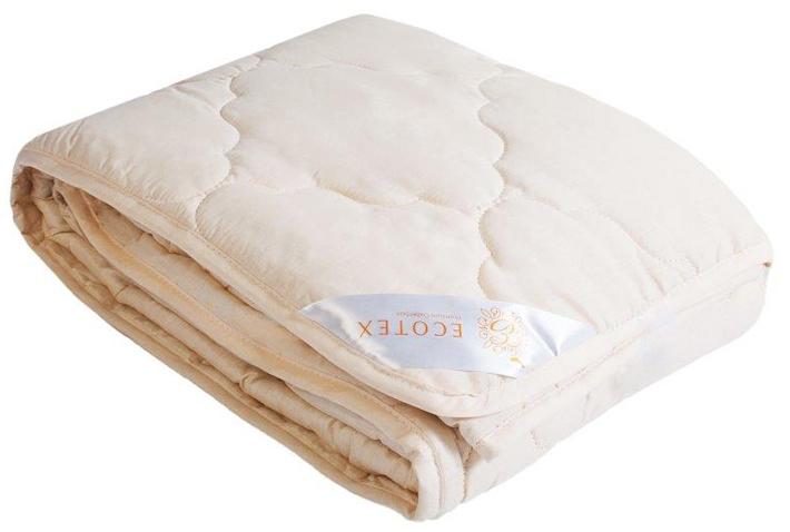 Одеяло Ecotex Премиум Золотое руно, облегченное, наполнитель: овечья шерсть, 200 х 220 см плед daily by t золотое руно 130х170см шерсть 100% в ассортименте