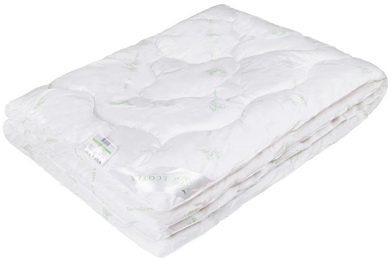 Одеяло Ecotex Премиум Эвкалипт, наполнитель: эвкалиптовое волокно, цвет: белый, 200 х 220 см одеяло grass familie exclusive silk familie bio line легкое наполнитель шелк цвет белый 200 х 220 см