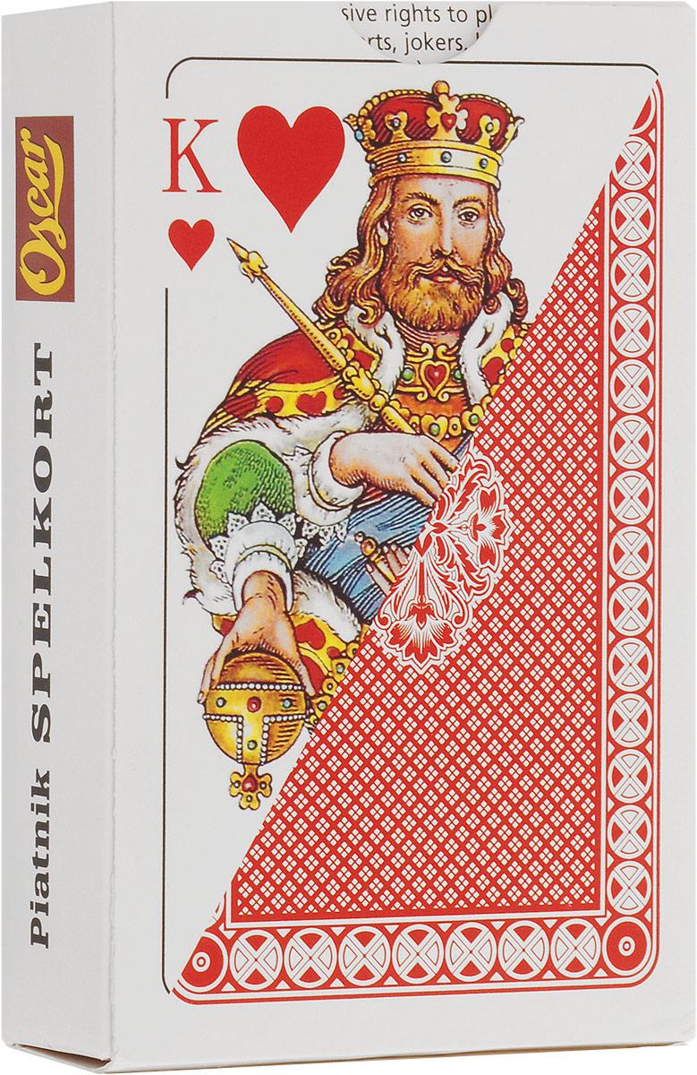 Игральные карты Piatnik Карты игральные профессиональные Оскар, 55 карт,1424_красный белый, красный карты игральные профессиональные piatnik rosette 56 карт