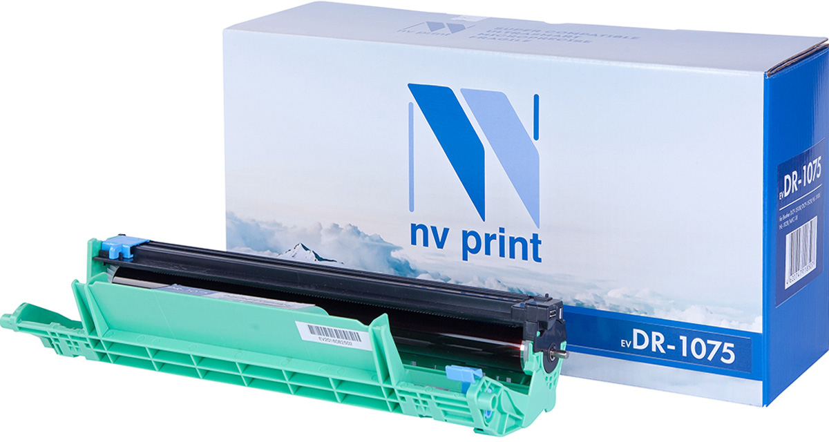 NV Print DR1075, Black фотобарабан для Brother DCP-1510R/DCP-1512R/HL-1110R/HL-1112R/MFC-18