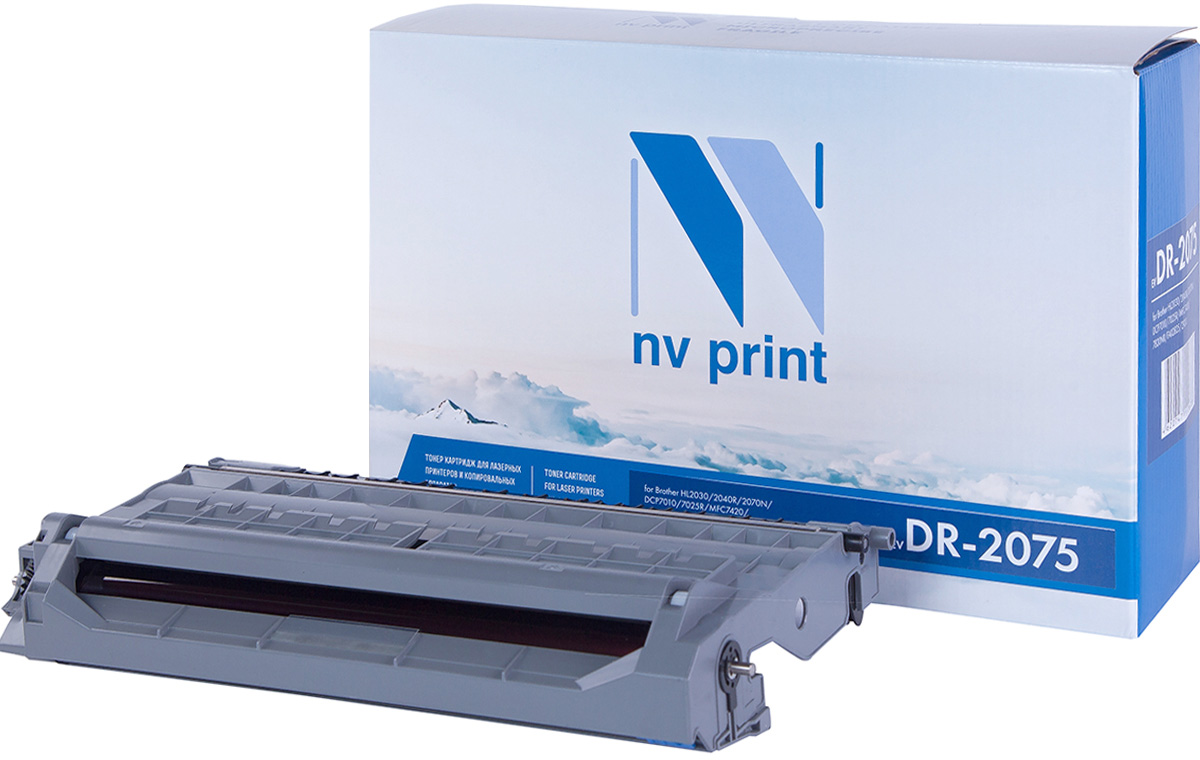 NV Print DR2075, Black фотобарабан для Brother HL2030/2040R/2070N/DCP7010/7025R/MFC7420/7820NR/FAX2825/2920 brother dr2075