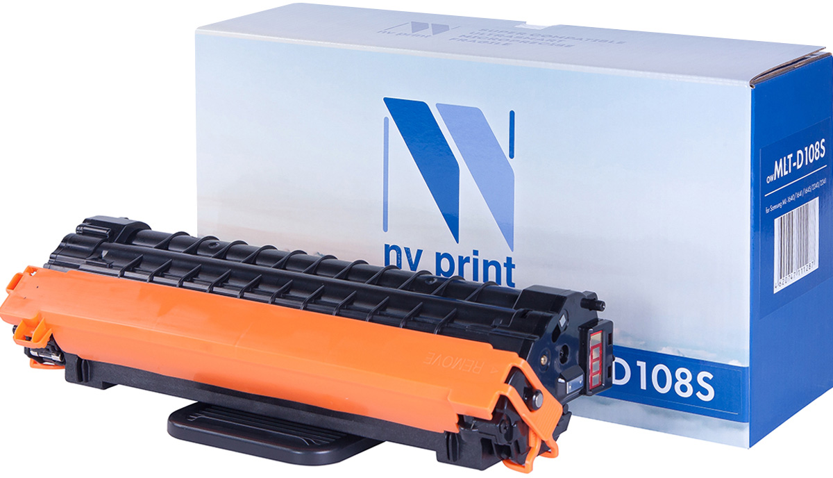 Картридж NV Print MLT-D108S, черный, для лазерного принтера