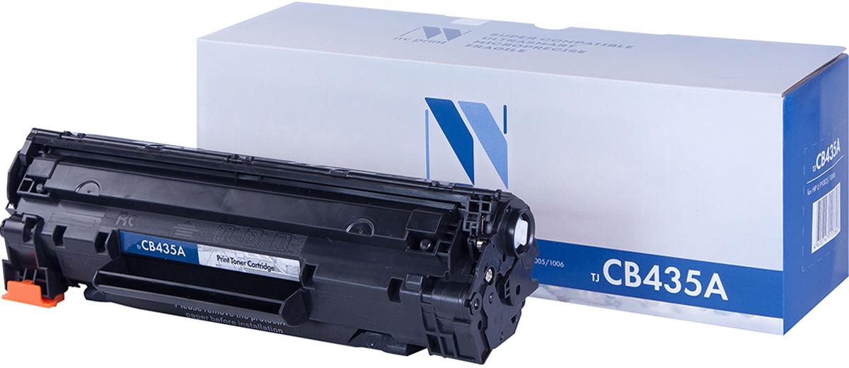 Тонер-картридж NV Print CB435A, черный, для лазерного принтера, совместимый