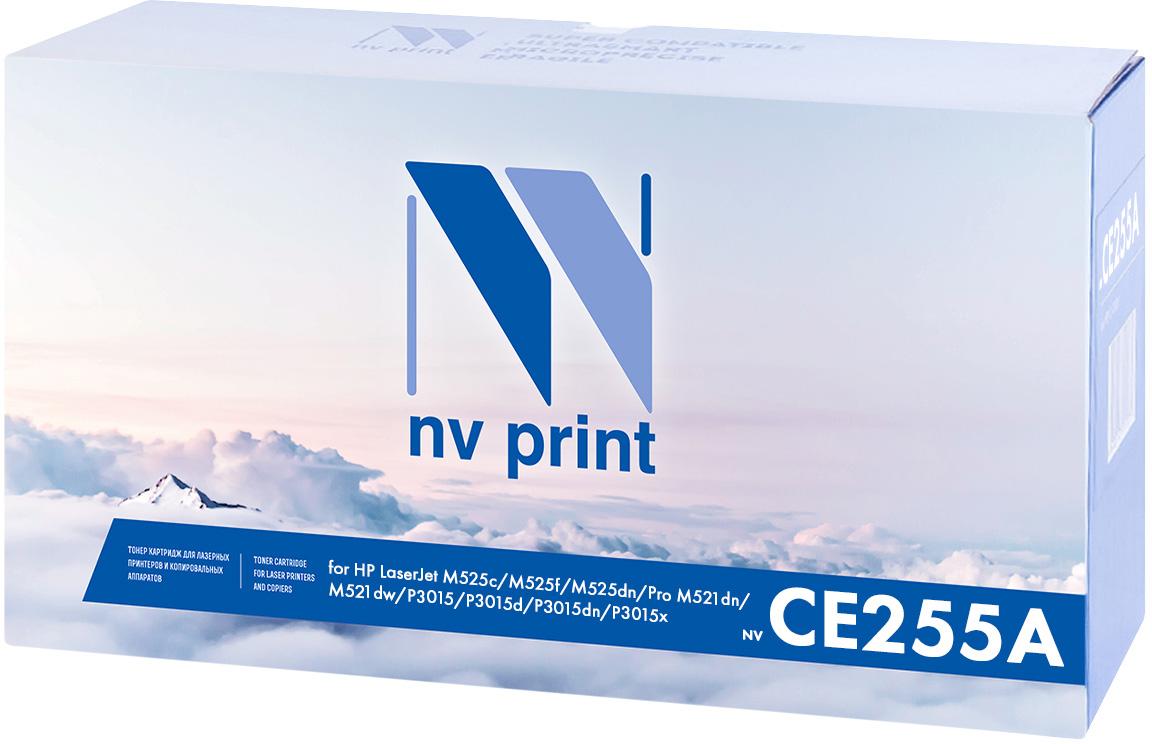 Тонер-картридж NV Print CE255A, черный, для лазерного принтера, совместимый