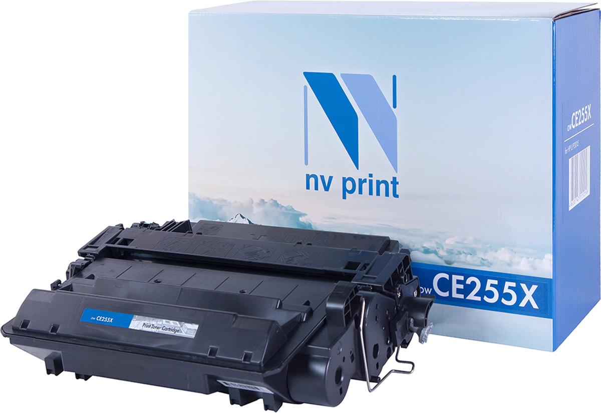Тонер-картридж NV Print CE255X, черный, для лазерного принтера, совместимый