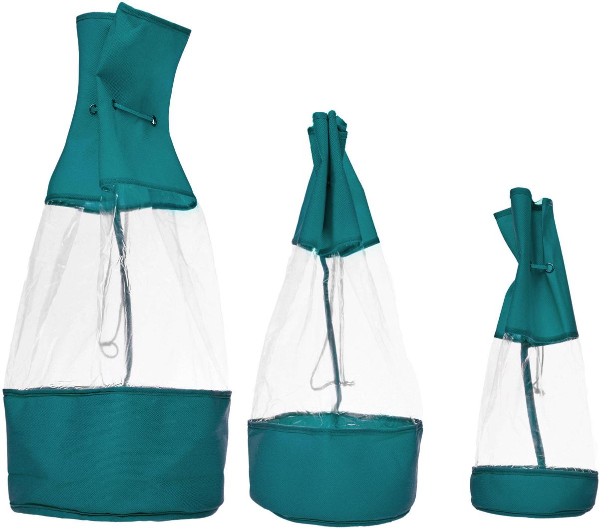 Набор мешочков Все на местах Minimalistic, цвет: бирюзовый, 3 предмета набор мешочков для завтрака paclan 17 см х 24 см 50 шт
