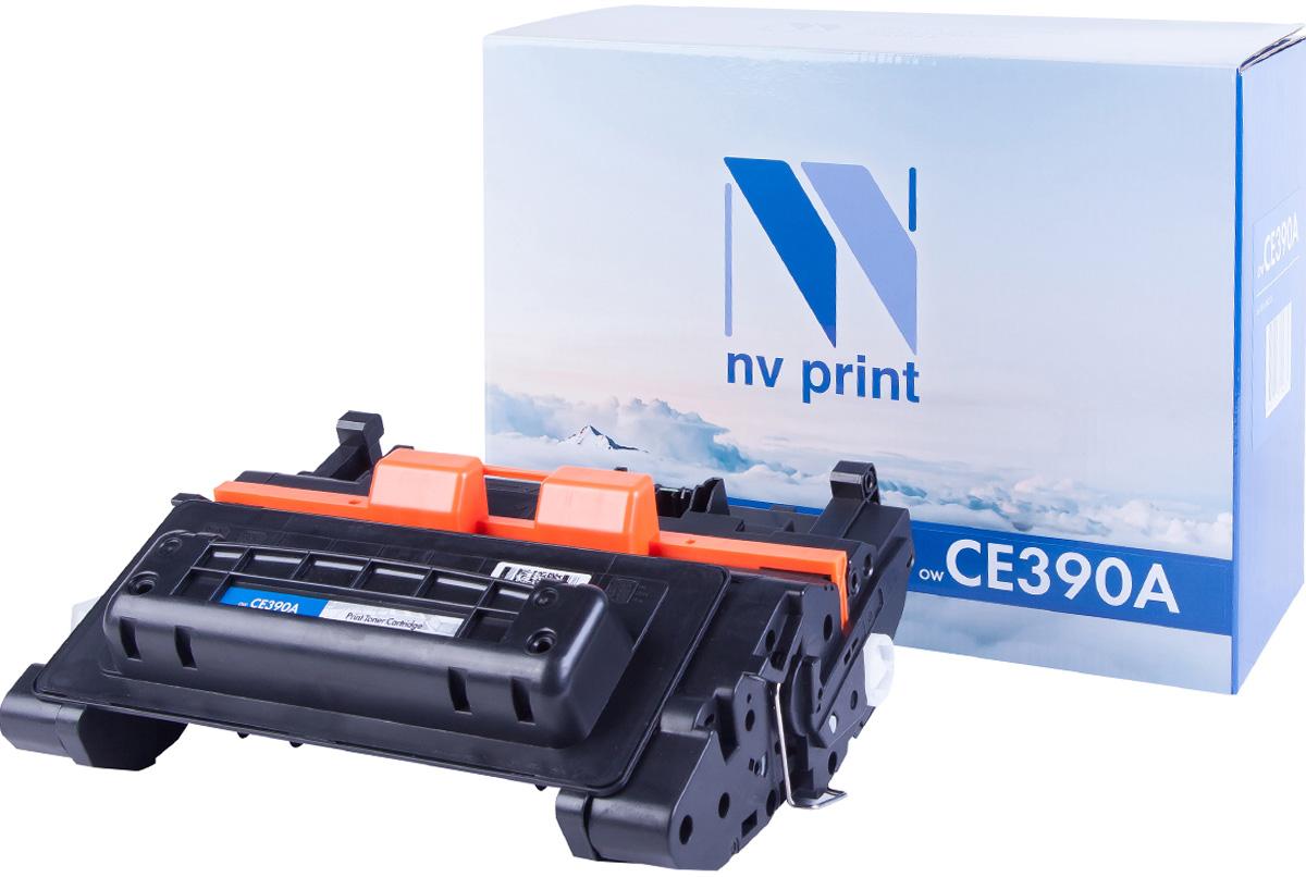 Тонер-картридж NV Print CE390A, черный, для лазерного принтера, совместимый