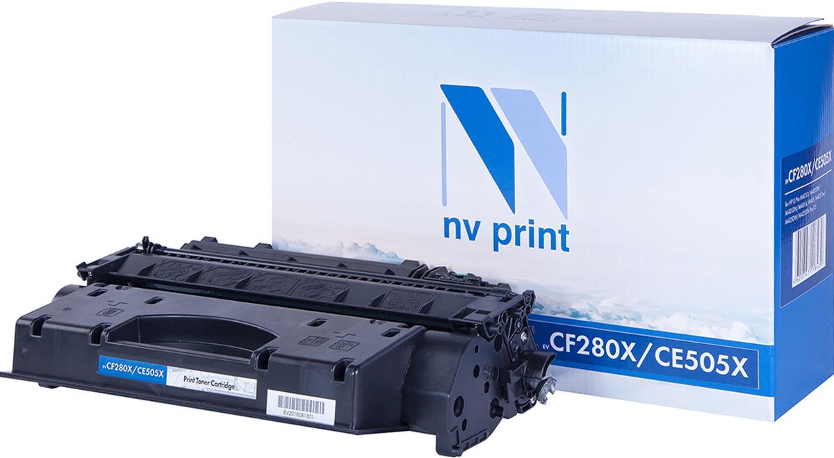 Тонер-картридж NV Print CF280X/CE505X, черный, для лазерного принтера, совместимый