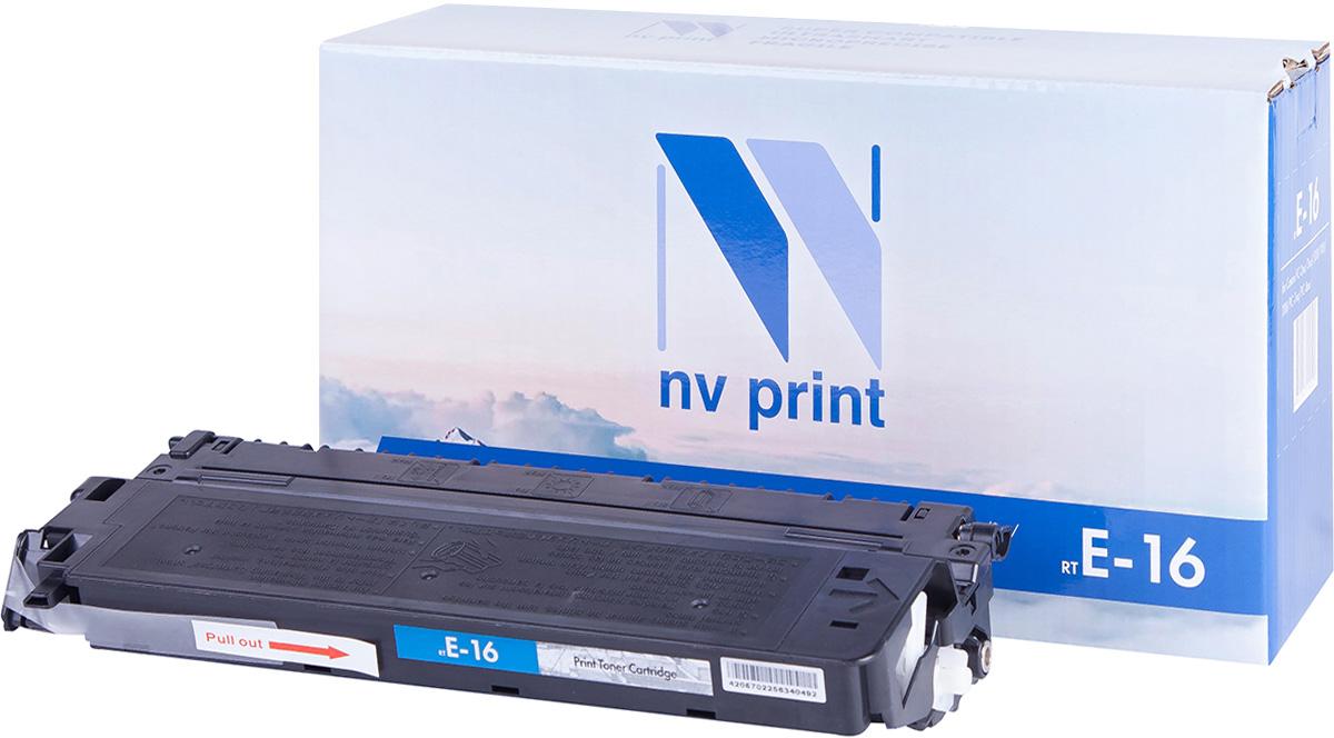 Тонер-картридж NV Print E-16, черный, для лазерного принтера, совместимый
