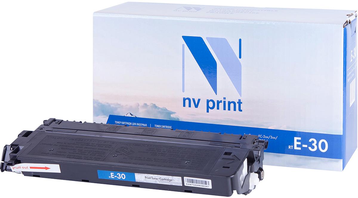 Тонер-картридж NV Print E-30, черный, для лазерного принтера, совместимый