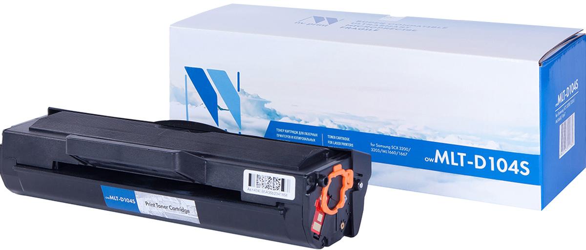Тонер-картридж NV Print MLT-D104S, черный, для лазерного принтера, совместимый