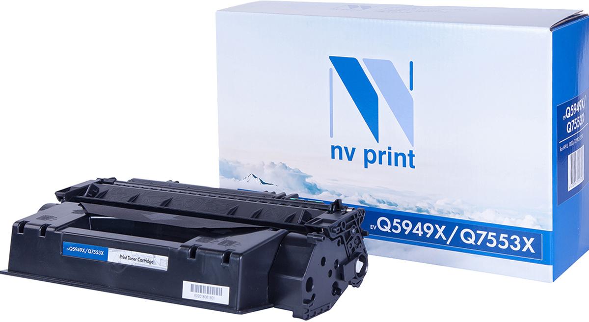 Тонер-картридж NV Print Q5949X/Q7553X, черный, для лазерного принтера, совместимый