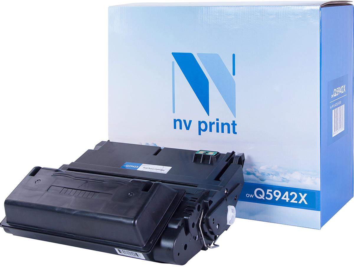 Картридж NV Print Q5942X, черный, для лазерного принтера, оригинал