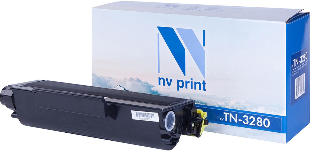 Картридж NV Print TN3280, черный, для лазерного принтера nv print tn3280 black тонер картридж для brother hl5340d 5350dn 5370dw 5380dn dcp8085 8070 mfc8370 8880