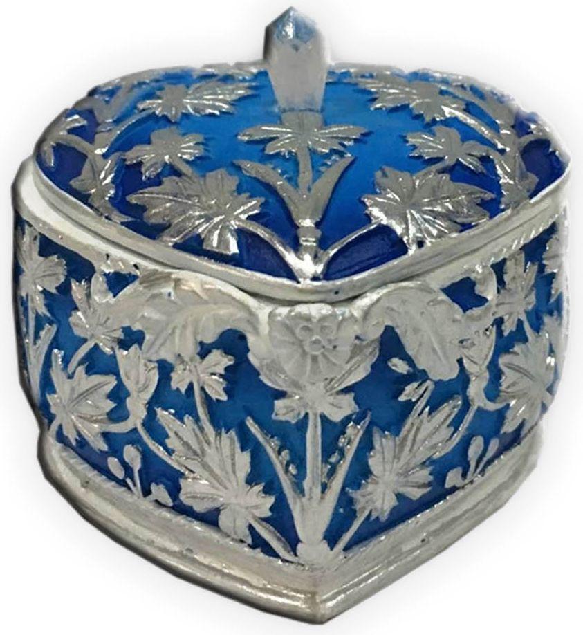 """Шкатулка декоративная """"Magic Home"""", цвет: синий, 7,5 х 7,5 х 6 см"""